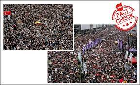 Hong Kong Protest Pics Passed Off As Cpim Rally In Up